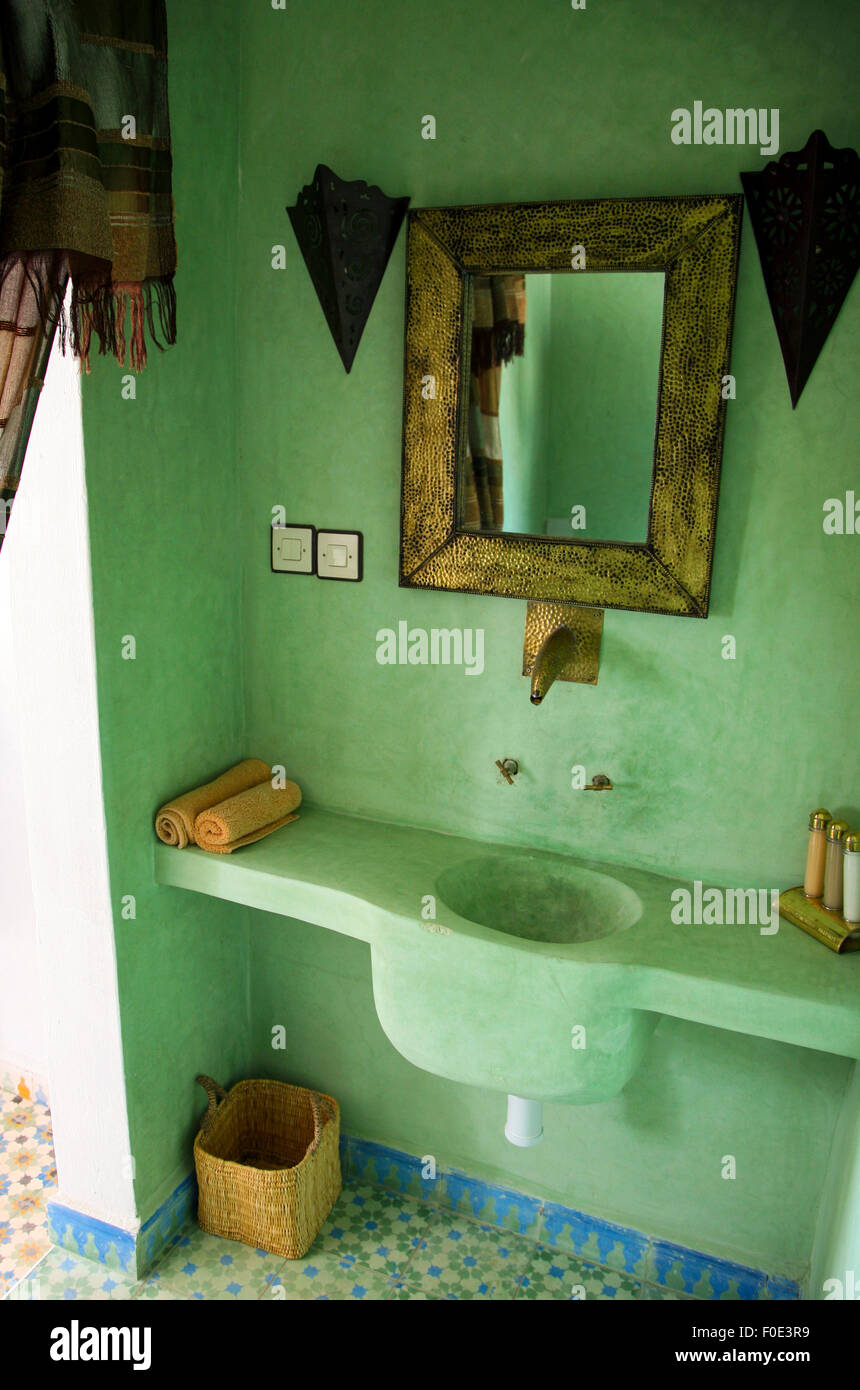 Spa im marokkanischen Stil und Bad in Marokko. Blick auf das ...
