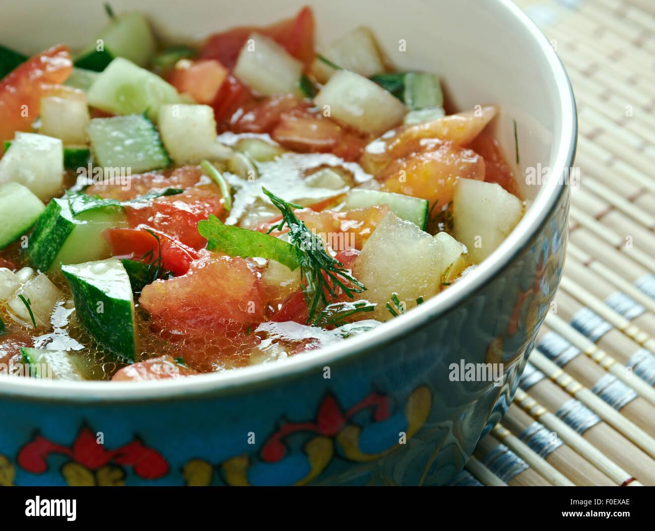 Kas?k Salat - mediterraner Salat. Türkische Gericht Gemüse. Stockbild
