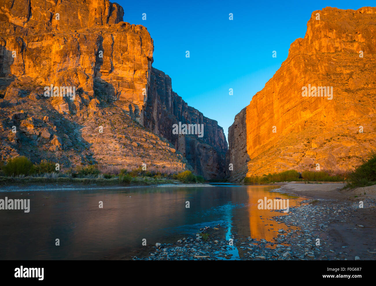 Big Bend National Park in Texas ist das größte Naturschutzgebiet der Chihuahua-Wüste der Vereinigten Stockbild