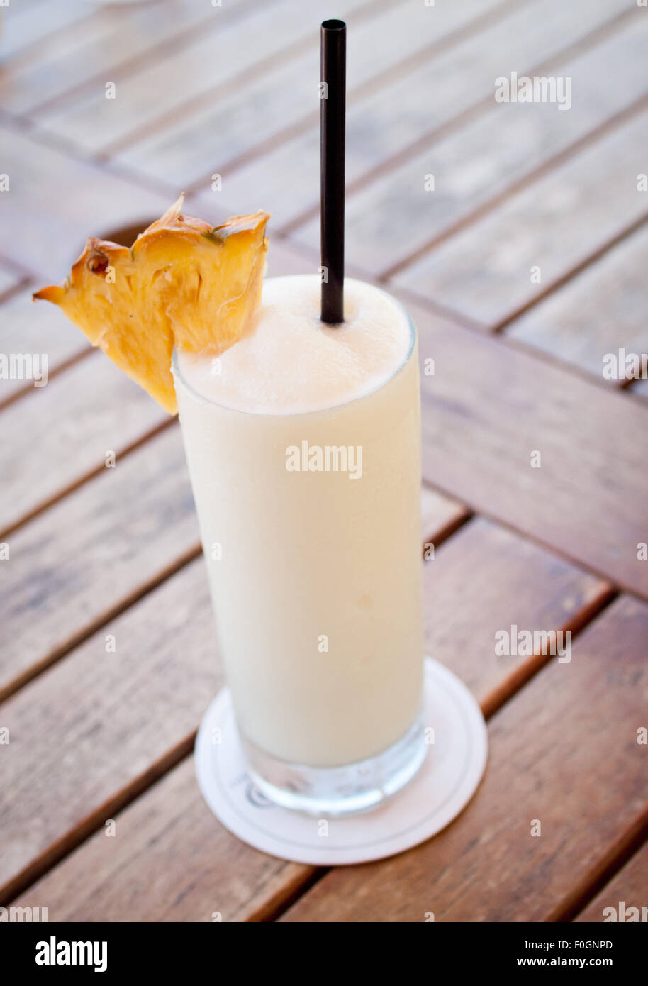 Eine Piña Colada (Pina Colada) cocktail. Stockbild