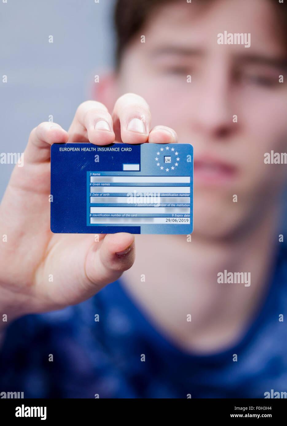 Die Europäische Krankenversicherungskarte (EHIC) Stockbild
