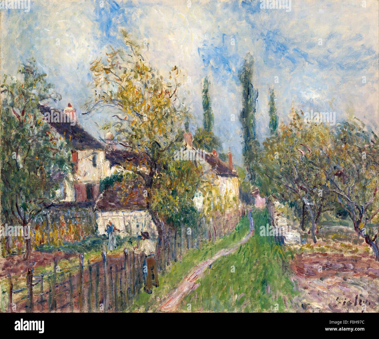 Alfred Sisley - UN-Sentier Aux Sablons [A Path auf Les Sablons] Stockbild