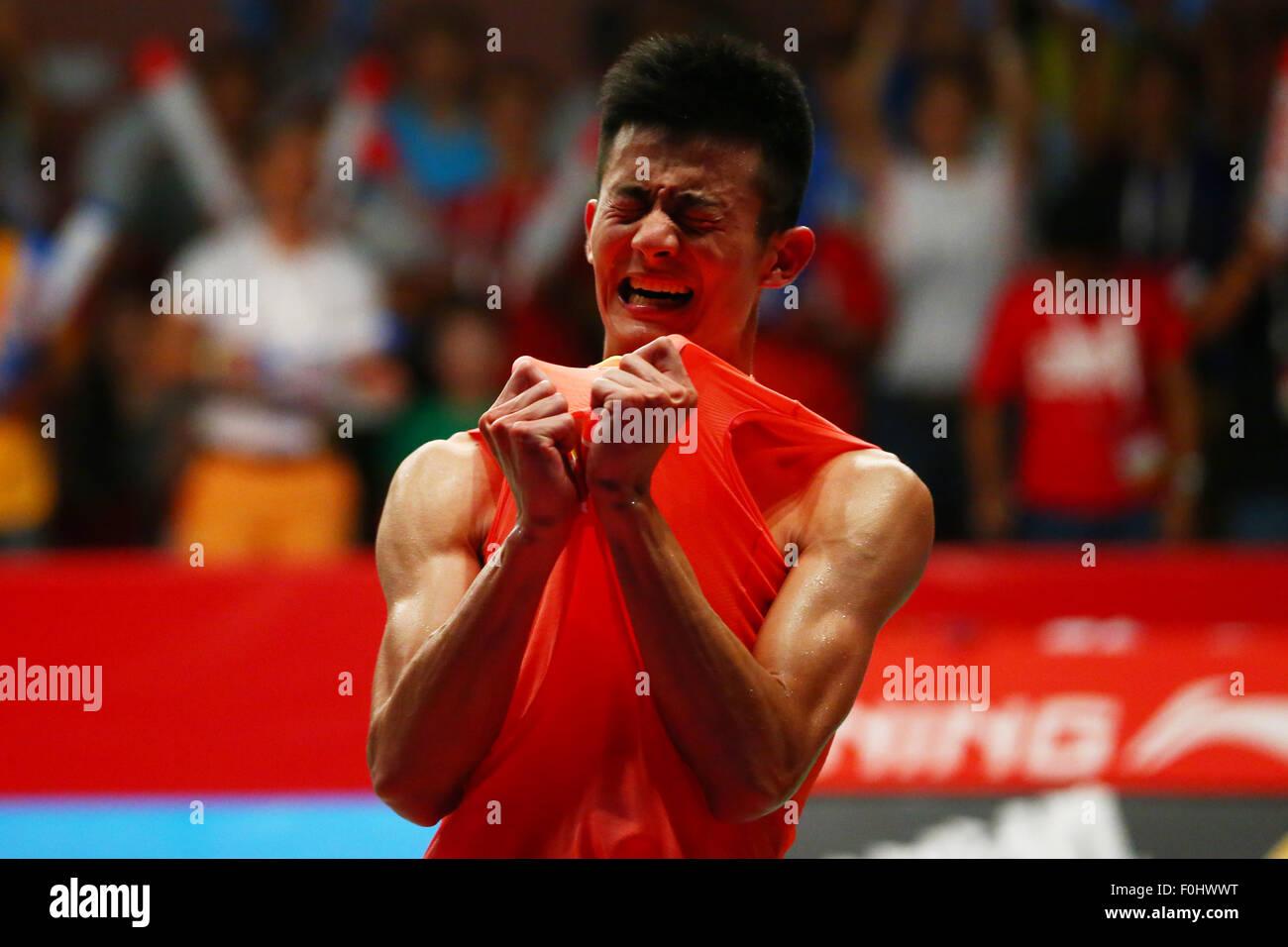 Istora Senayan Arena, Jakarta, Indonesien. 16. August 2015. Chen Long (CHN), 16. August 2015 - Badminton: TOTAL Stockbild
