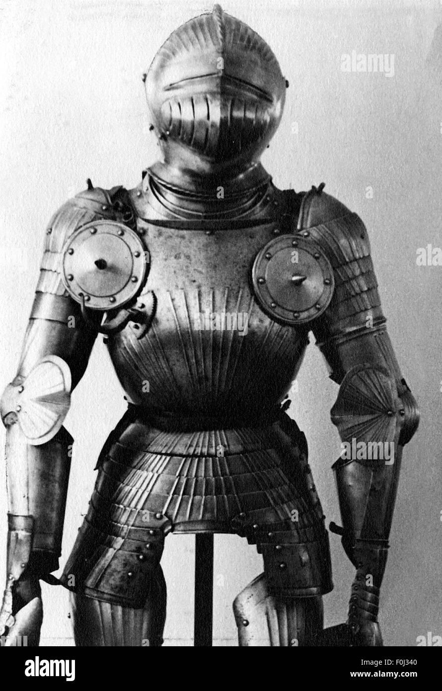 Militär, Mittelalter, Ritter Rüstung, historischen, historischen, mittelalterlichen Zeiten, Kabelbaum, Stockbild