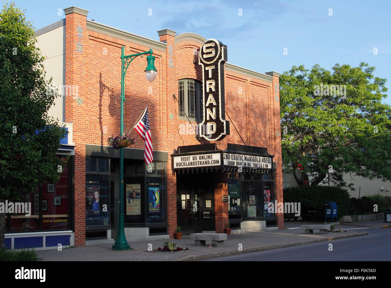 Klassische amerikanische Kino Rockland Harbor Maine New England USA Stockbild