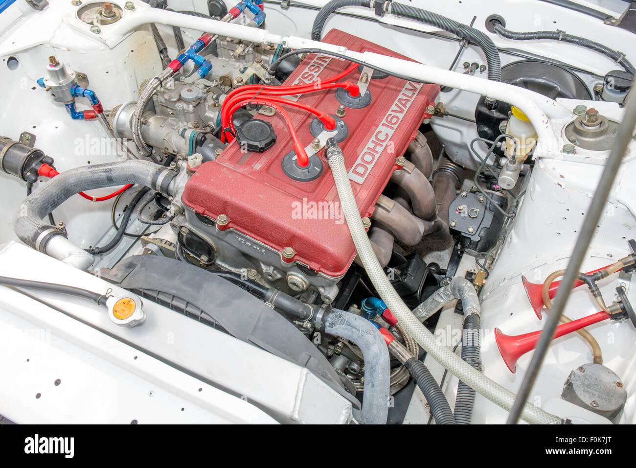 Nissan FJ24 Motor auf 240 RS 1 2015 Motorsport Japan Stockbild