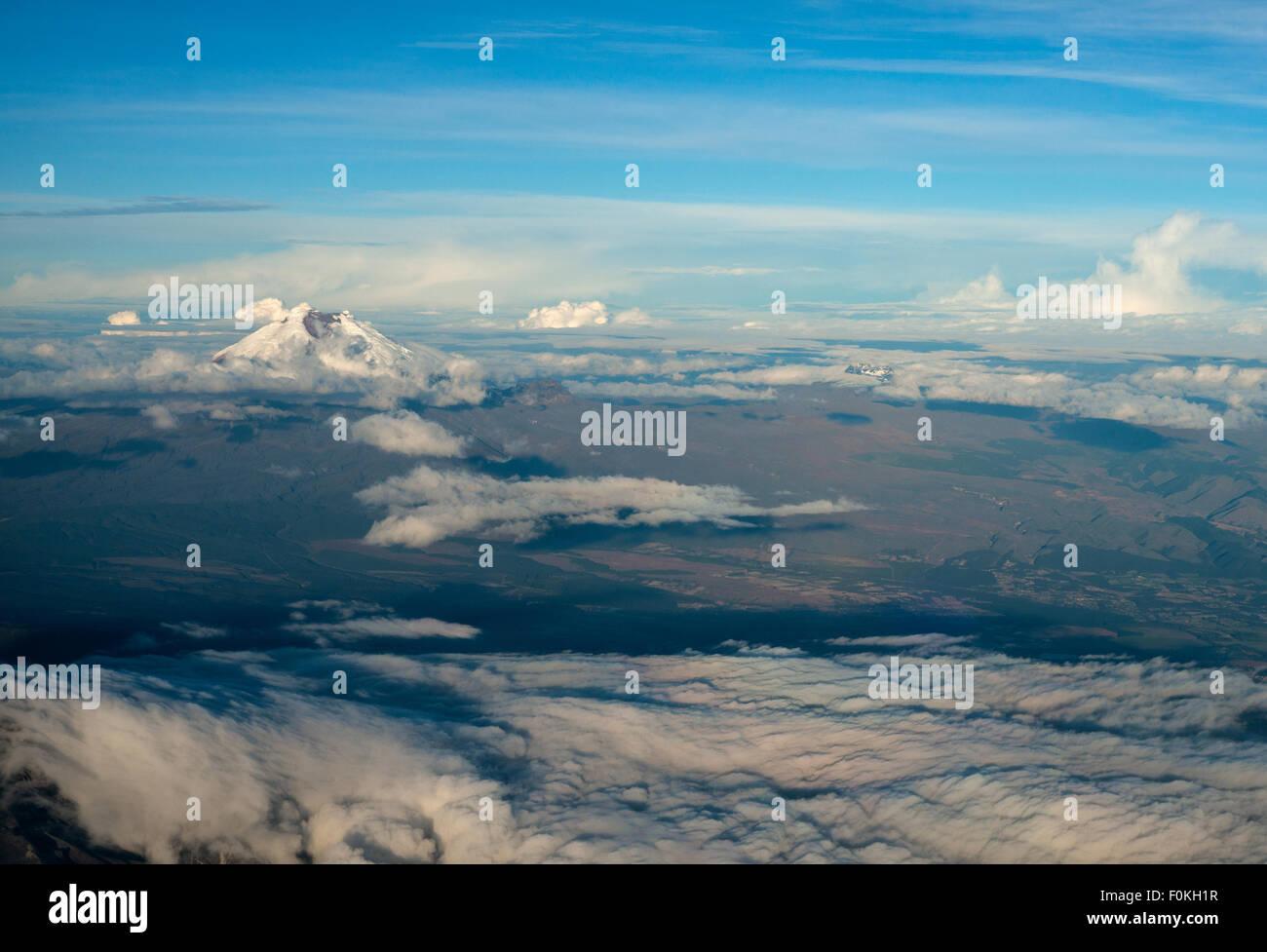 Cotopaxi, der höchste aktive Vulkan der Welt. Anden-Hochland von Ecuador, Südamerika Stockbild