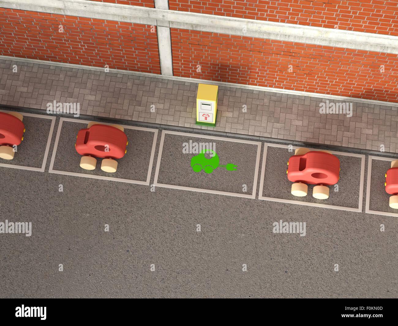 Electric Car Charging Symbol On Stockfotos & Electric Car Charging ...