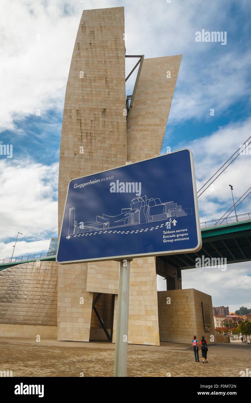 Guggenheim-Museum für Kunst. Bilbao, Vizcaya, Spanien, Europa. Stockbild