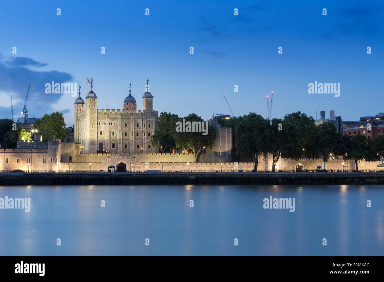Der Tower von London, London Schloss, dem königlichen Palast und mittelalterlichen Gefängnis in London, Stockbild