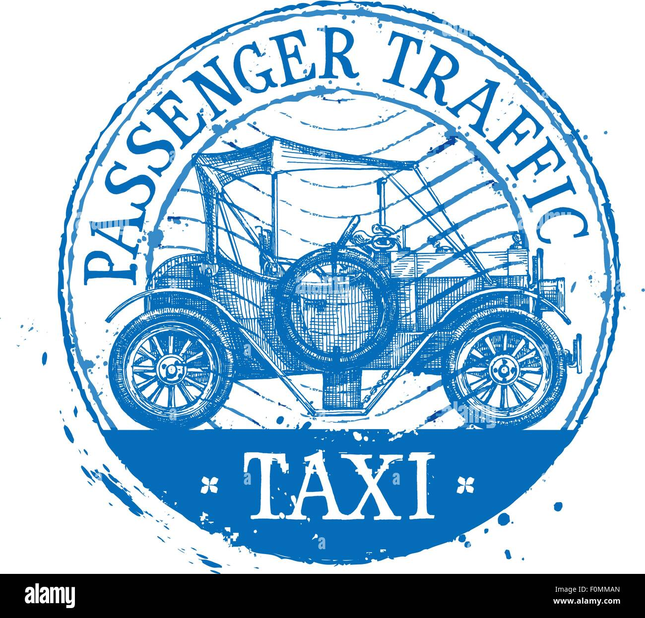 Retro-Auto-Vektor-Logo-Design-Vorlage. Fahrzeug oder Automobil ...