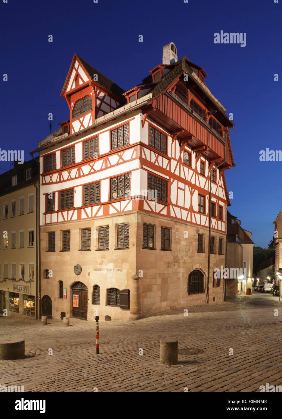 Albrecht-Dürer-Haus, Nürnberg, Bayern, Deutschland Stockbild