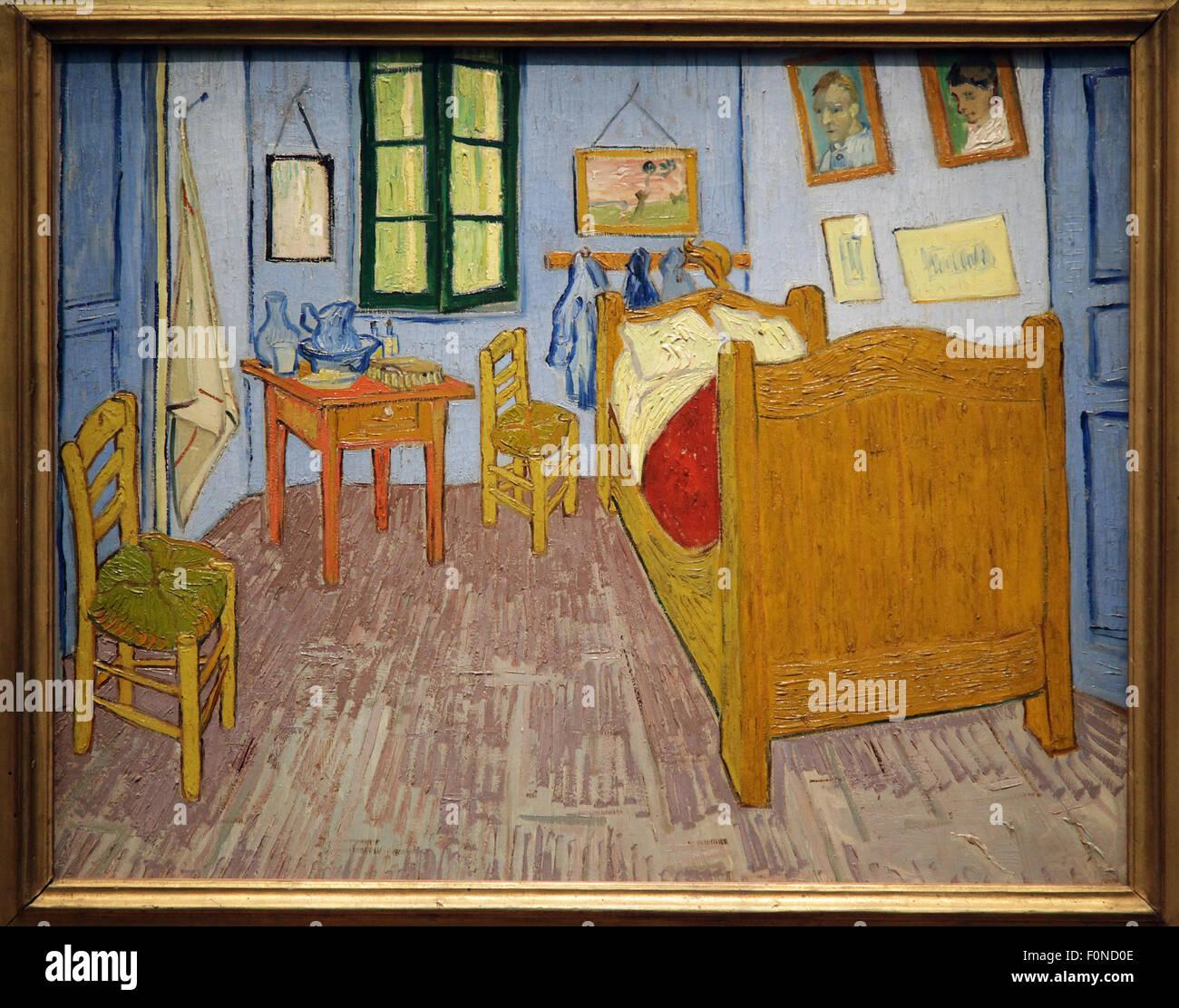 Schlafzimmer in Arles La Chambre À Arles drei ähnliche Gemälde von ...