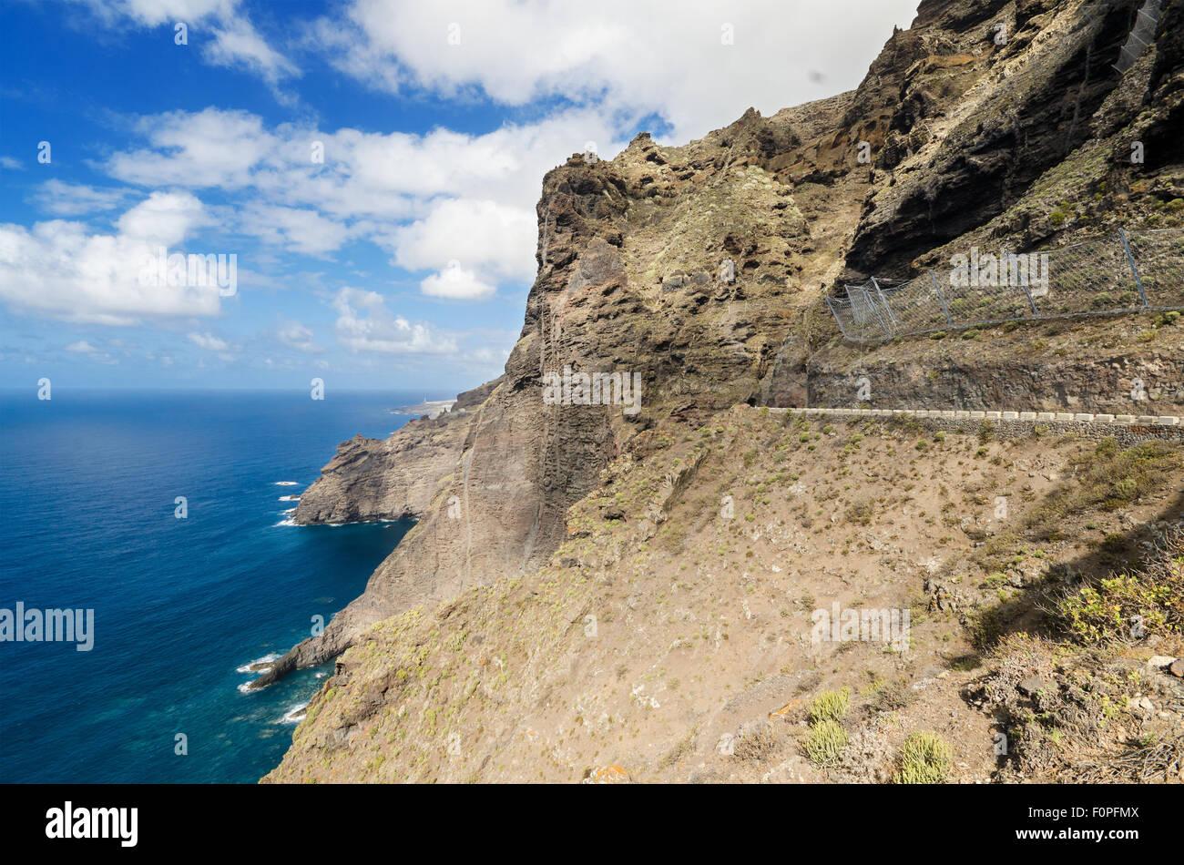 Malerische Küste Landschaft, Punta de Teno, Teneriffa Kanarische Inseln, Spanien. Stockbild