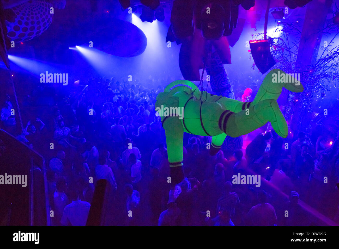Pascha, Night-Club in Ibiza Stockbild