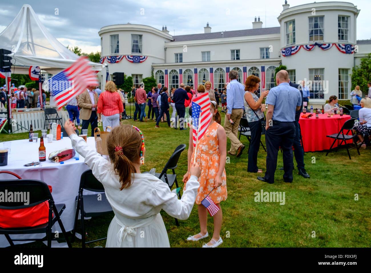 4. 4. Juli Feier amerikanische Unabhängigkeit Stockbild