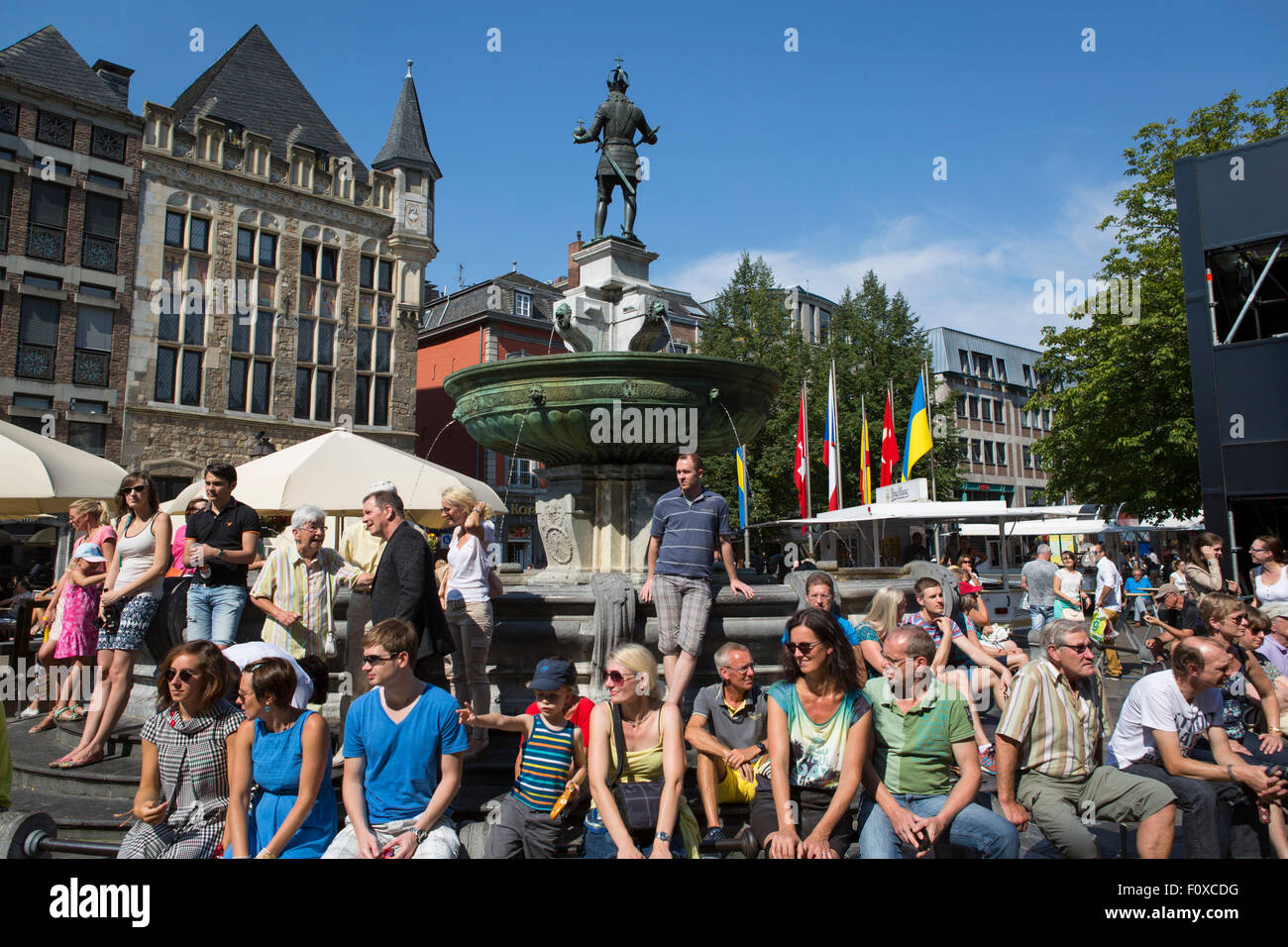 center of aachen stockfotos center of aachen bilder alamy. Black Bedroom Furniture Sets. Home Design Ideas