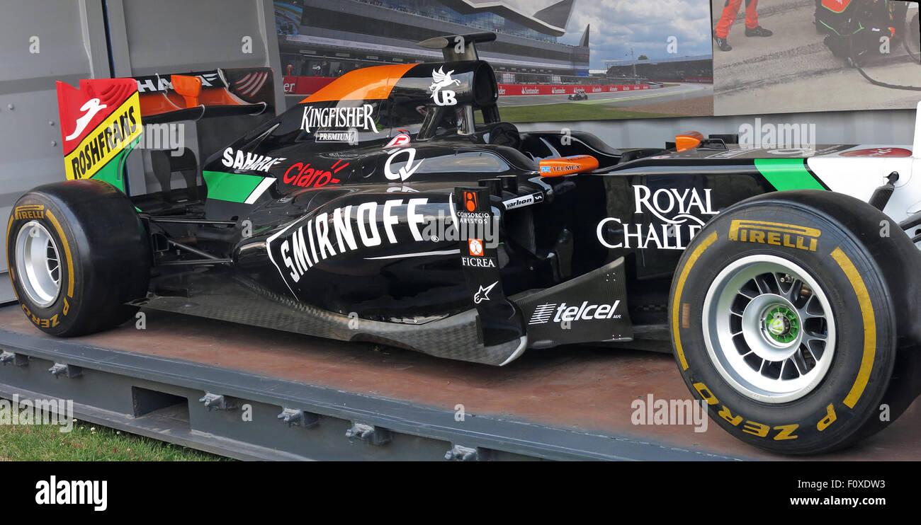Force India Formel 1 Auto Silverstone Juli 2015 Stockfoto Bild