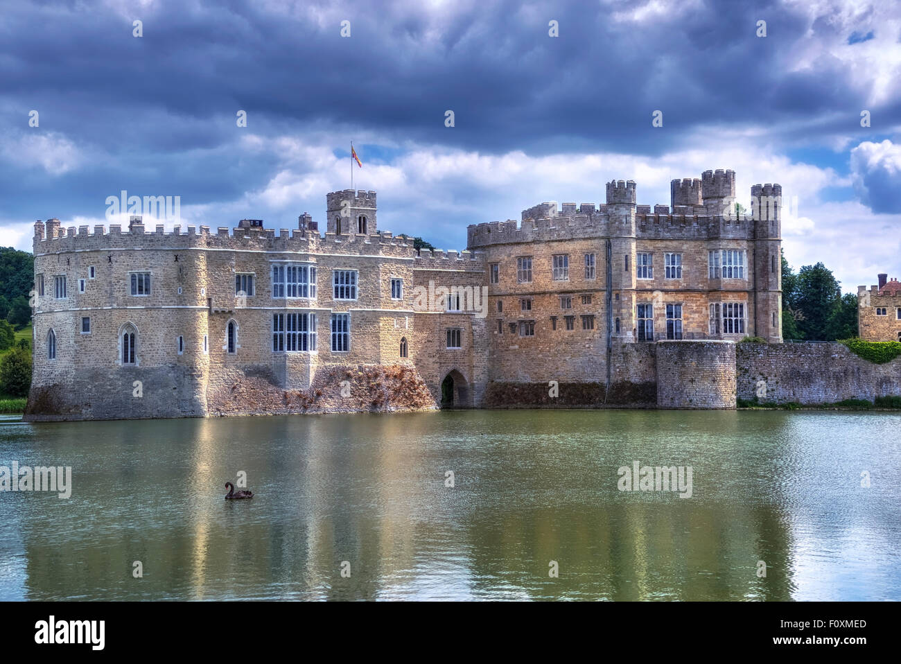 Leeds Castle, Maidstone, Kent, England, Vereinigtes Königreich Stockbild