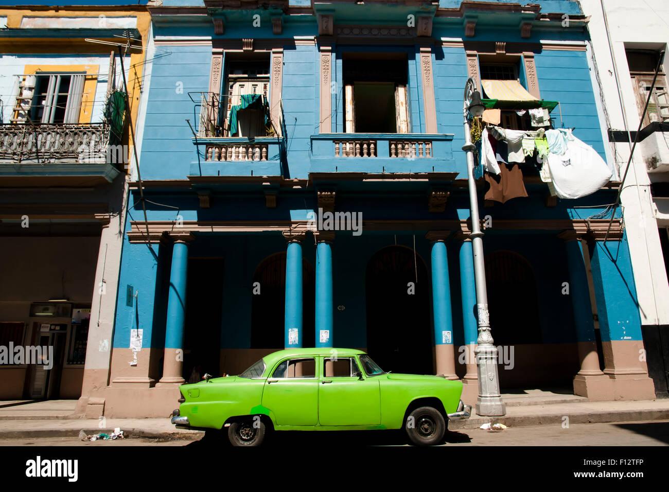 Koloniale Gebäude - Havanna - Kuba Stockbild