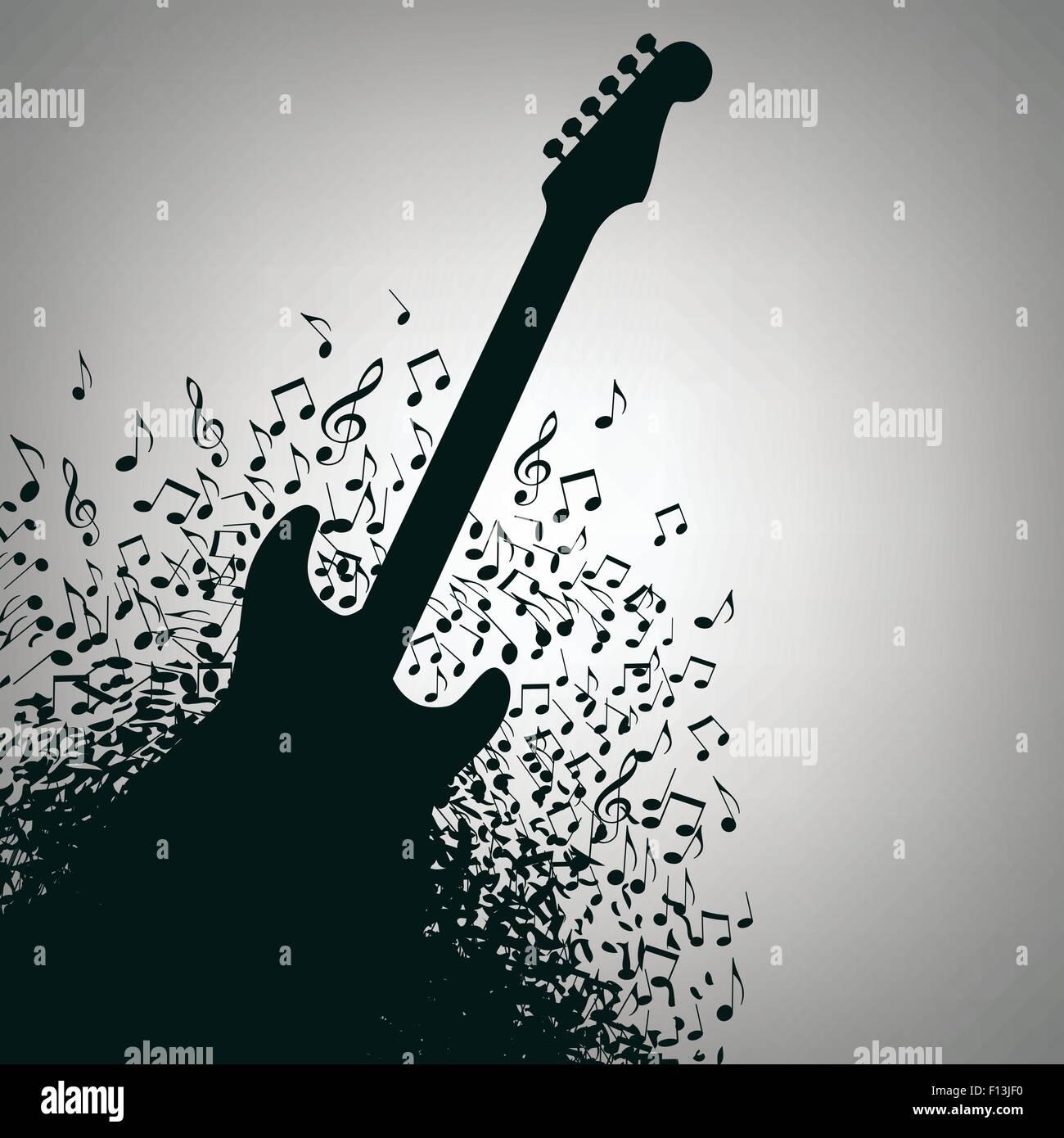 Gitarre Musik Konzert Plakat Layout-Vorlage für den Druck oder web ...