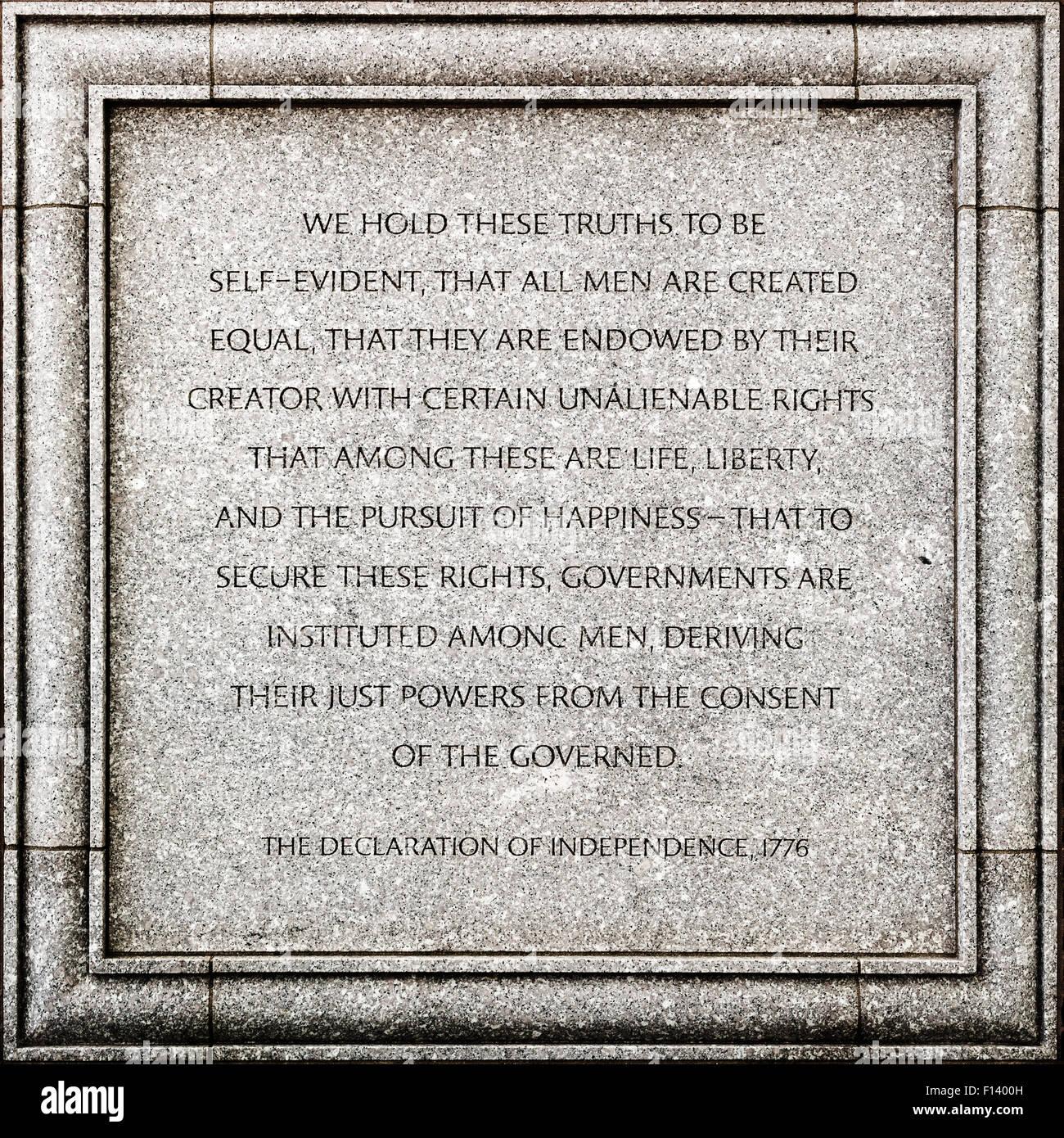 Outdoor-Detail von John Joseph Moakley United States Courthouse in Boston - die Erklärung der Unabhängigkeit Stockbild