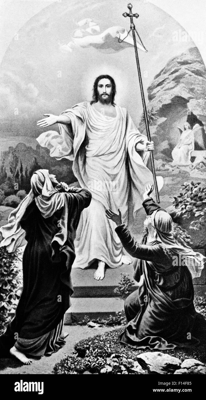 JESUS CHRISTUS DIE AUFERSTEHUNG OSTERN Stockbild