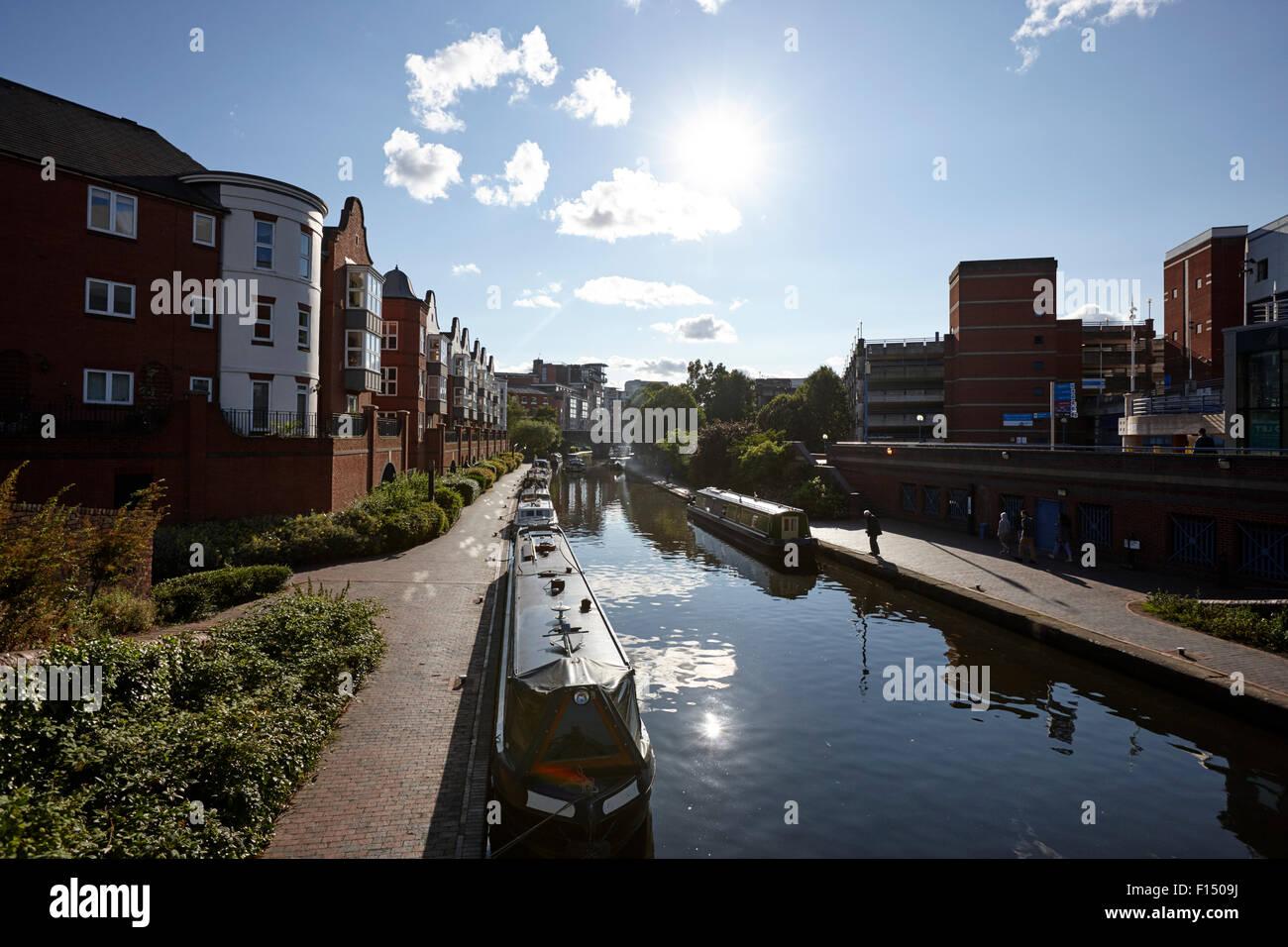 Oozells Straße Schleife von Birmingham Kanal-Navigationen Birmingham UK Stockbild