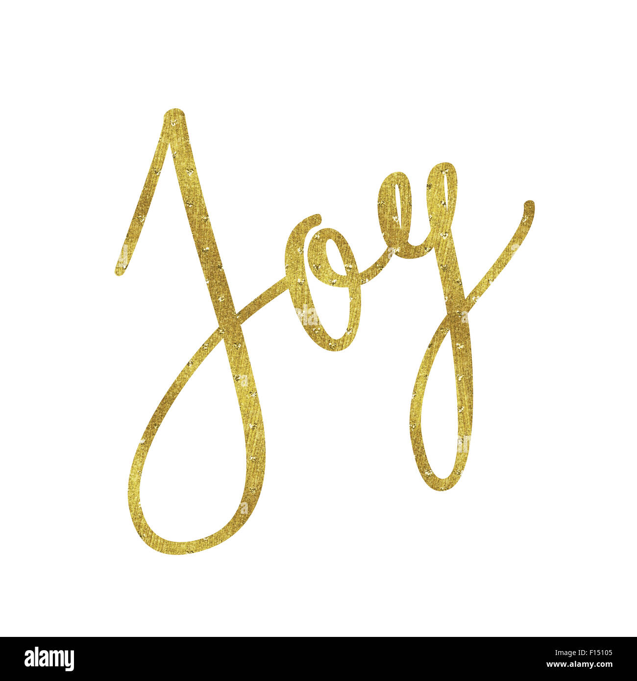 Freude Gold Faux Folie Metallic Glitter inspirierende Weihnachten ...