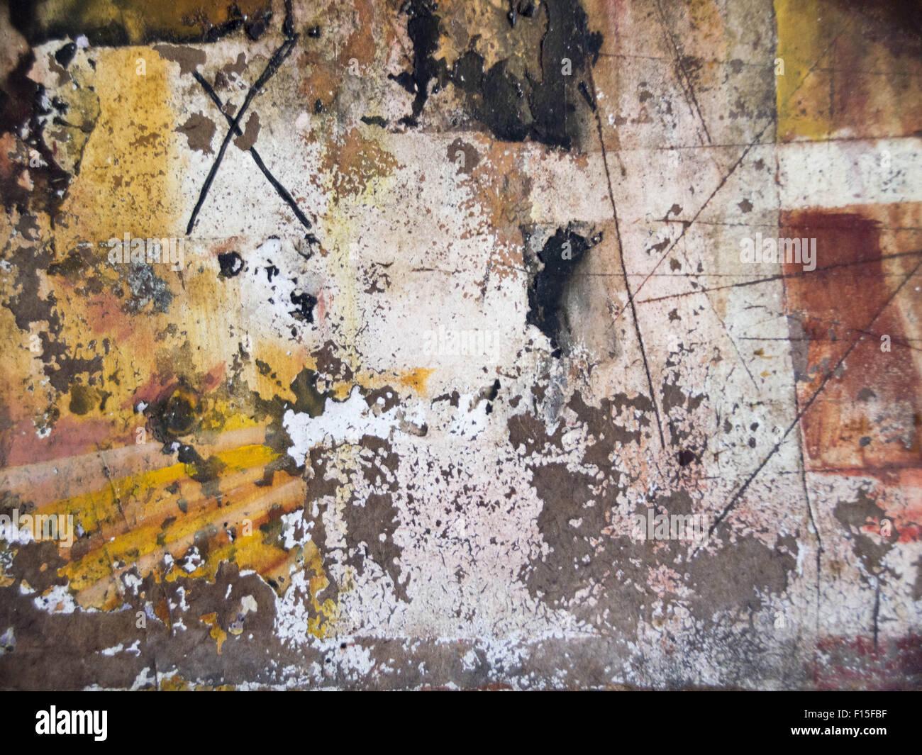 abstrakte Wallpaper von Ölgemälde mit Pinselstrichen in coolen ...