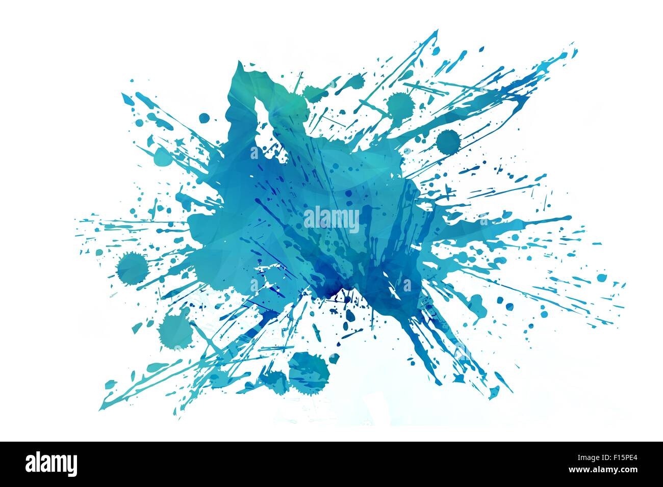 Coole Abstrakte Aqua Splash Isolated On White Background Blauer