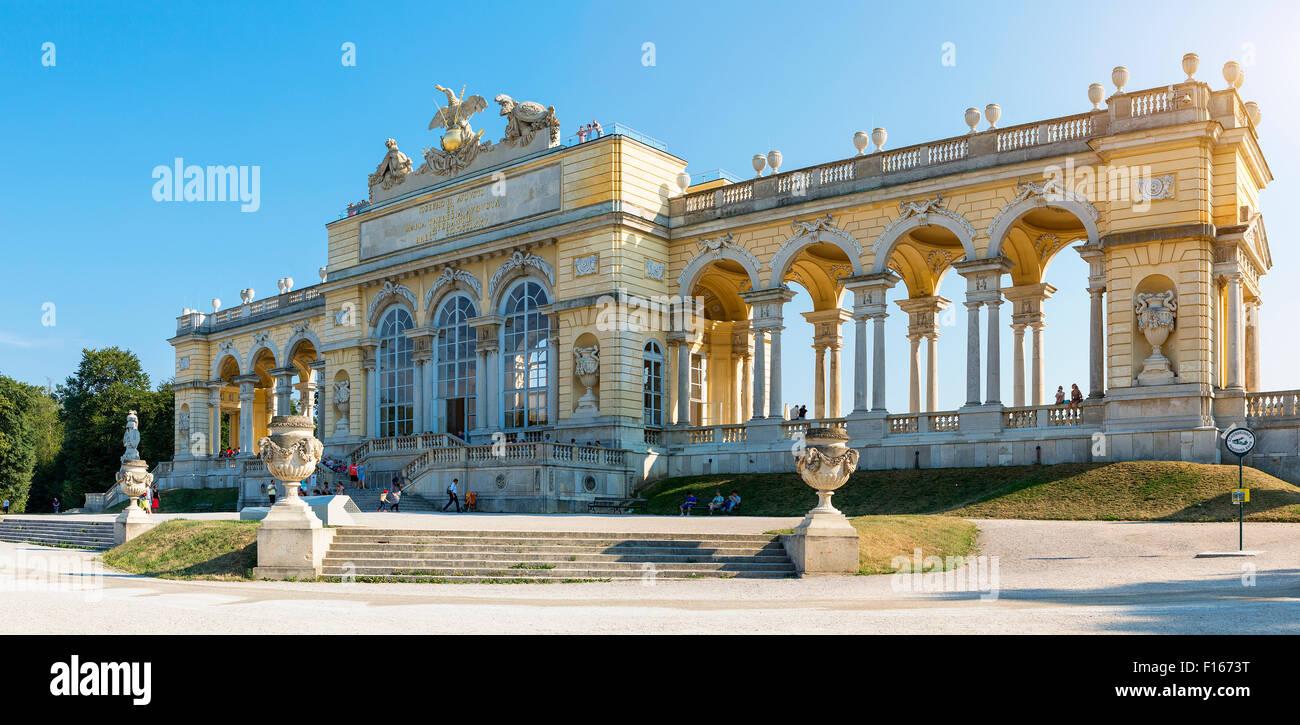 Wien der Gloriette in Schönbrunn Stockbild