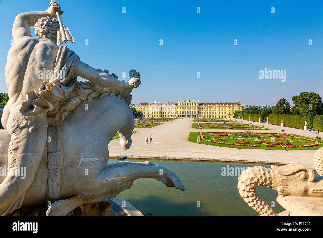 Schloss Schönbrunn, Vienna Stockbild