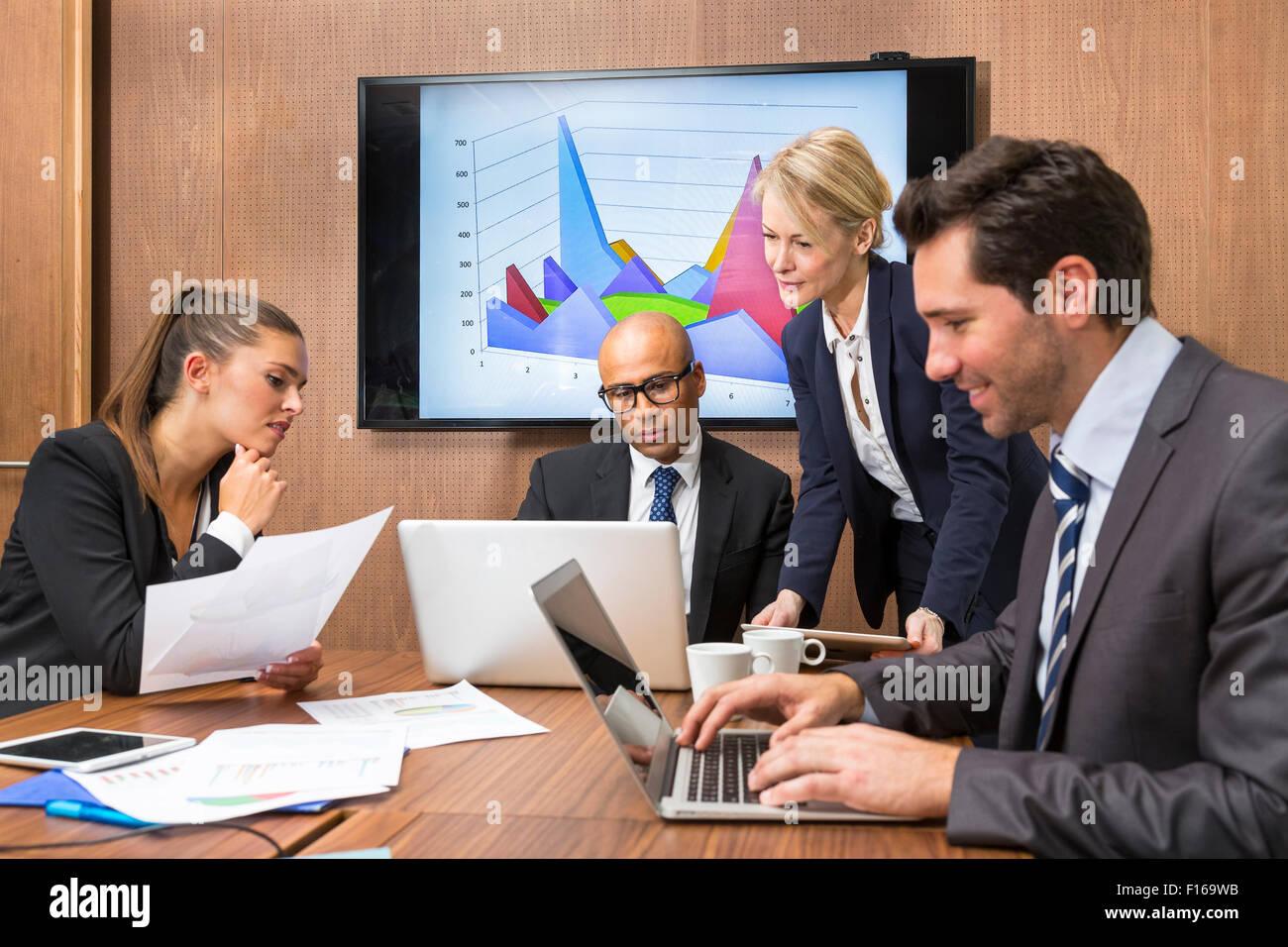 Business-Leute-meeting Stockbild