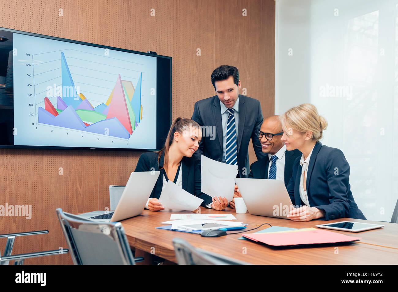 Business-Leute treffen Stockbild