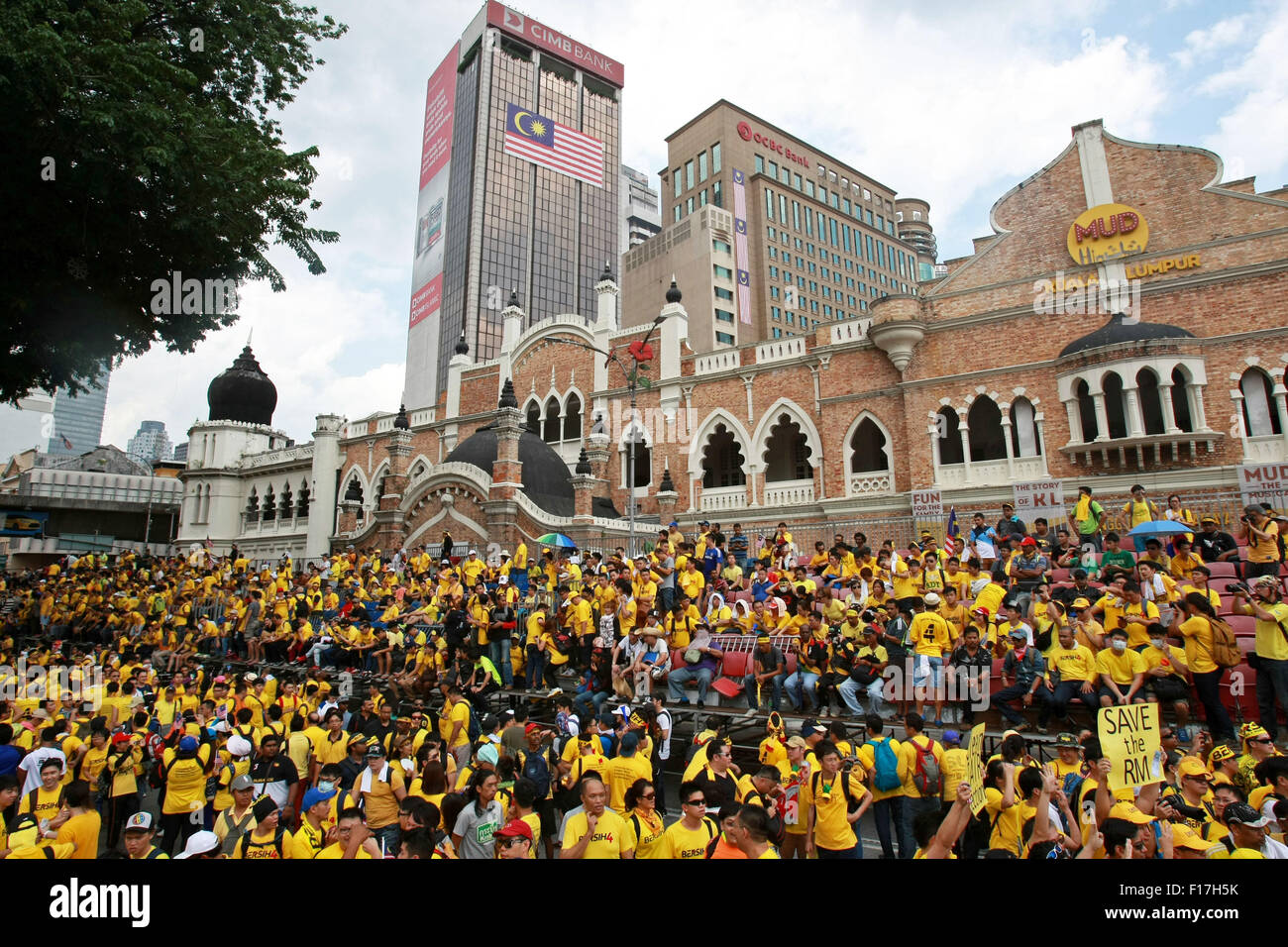 kl, kl, malaysia 29 august 2015 demonstrant bersih 4 0 versammeln