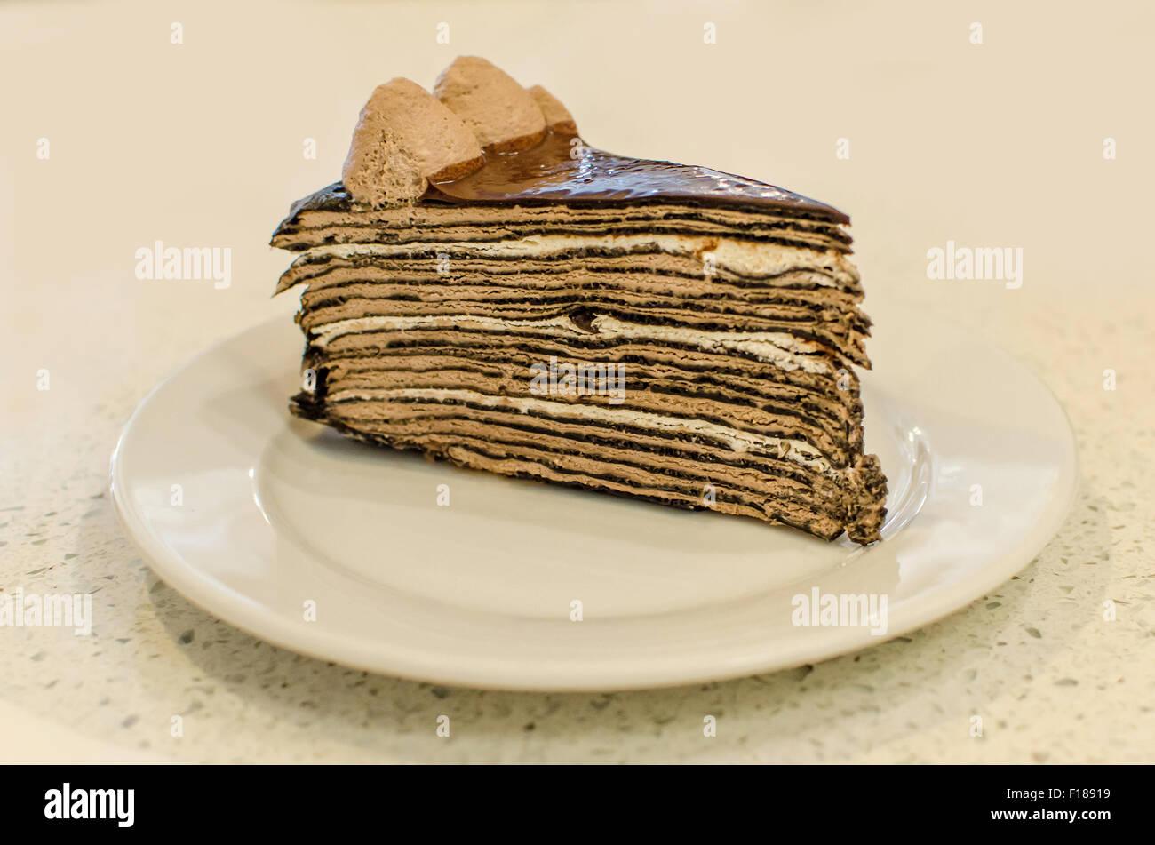 Tausend Schichten Kuchen Ist Ein Beruhmter Franzosischer Kuchen In