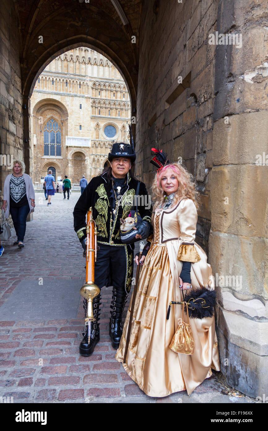 """Lincoln, UK. 30. August 2015. Steampunk Festival gefeiert am meisten """"splendid in der Welt"""", die größte Steampunk Stockfoto"""