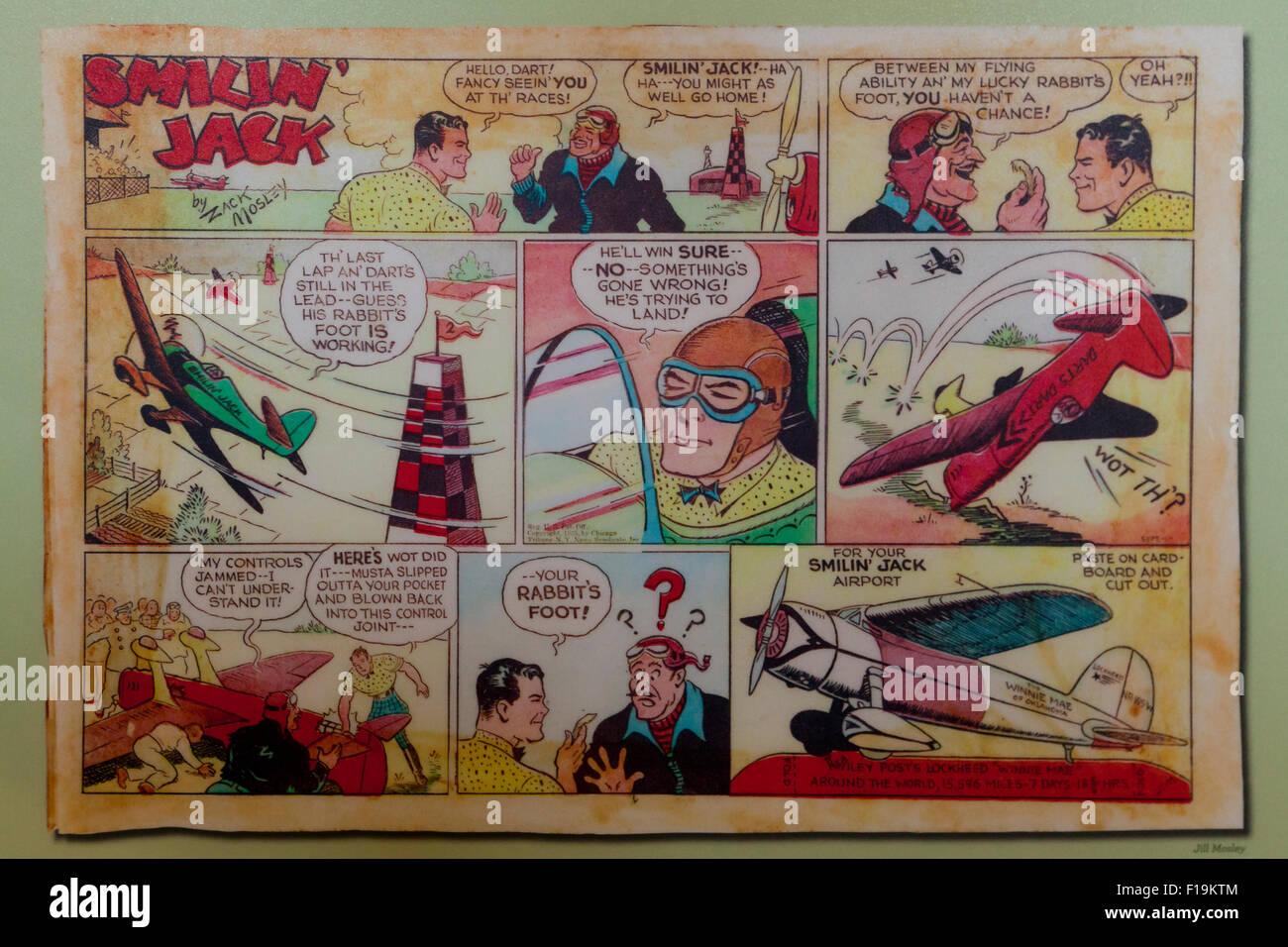 Geseh Jack Comic-Strip aus den 1930er Jahren - USA Stockbild