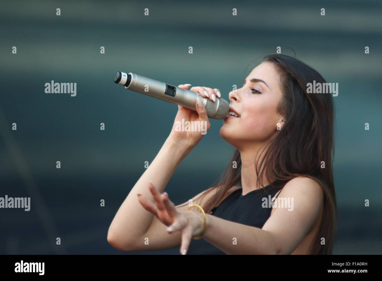 Magdeburg, Deutschland. 30. August 2015. Deutsche Sängerin Lena ...