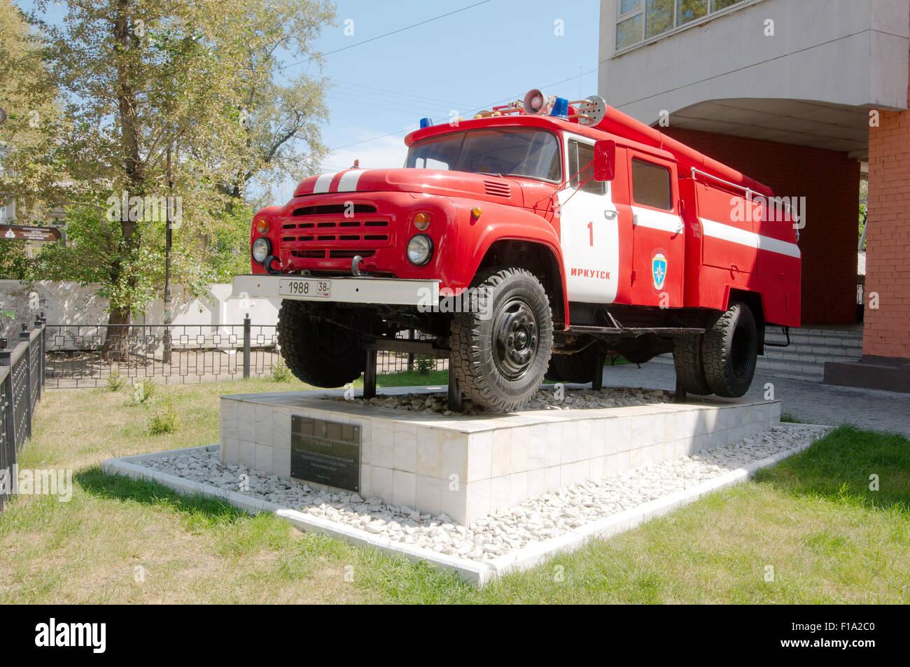 Irkutsk, Sibirien, Russland. 26. September 2009. Das Feuerwehrauto. Irkutsk, Sibirien, Russland © Andrey Nekrassow/ZUMA Wire/ZUMAPRESS.com/Alamy Live-Nachrichten Stockfoto