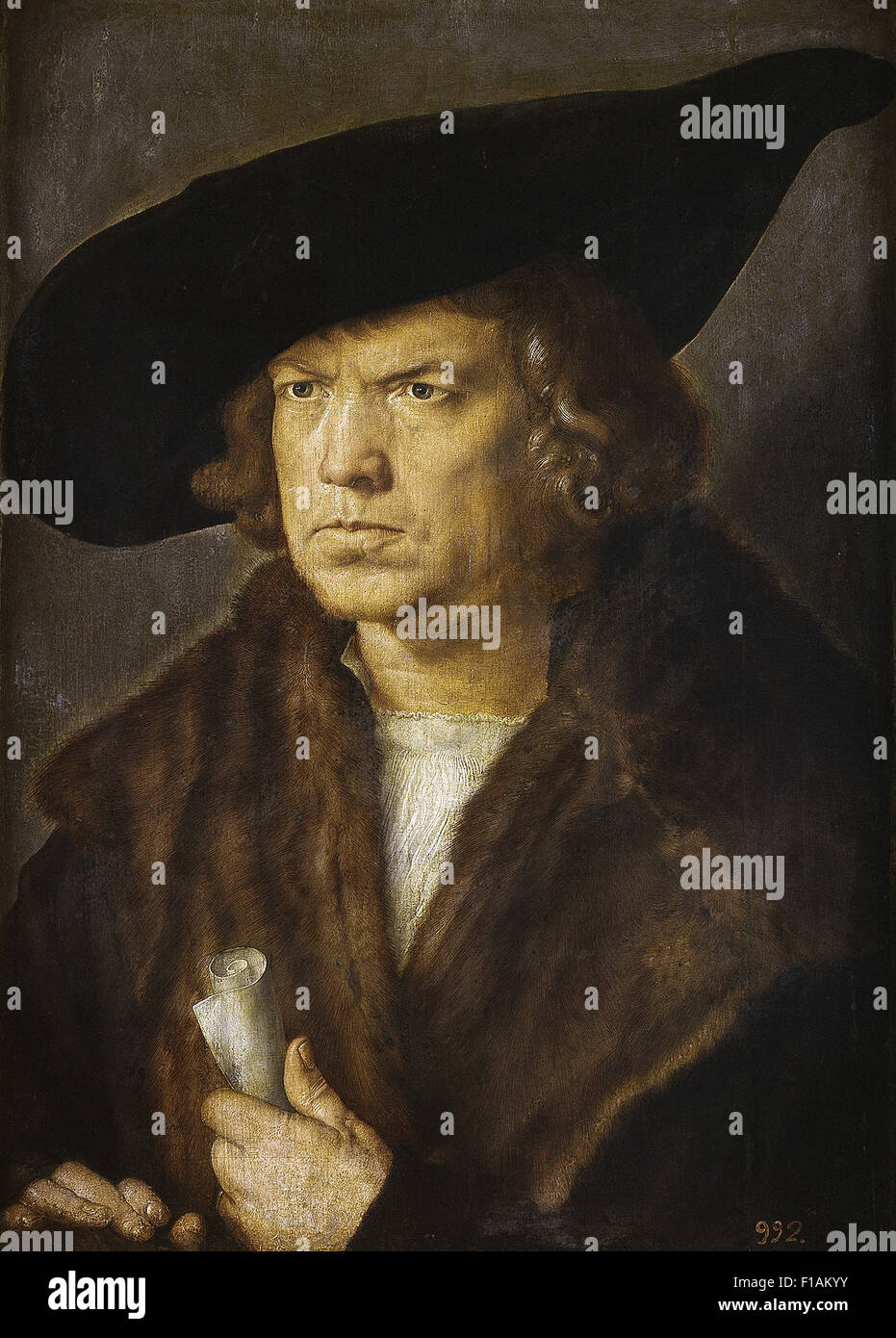 Albrecht Dürer - Portrait eines unbekannten Mannes Stockbild