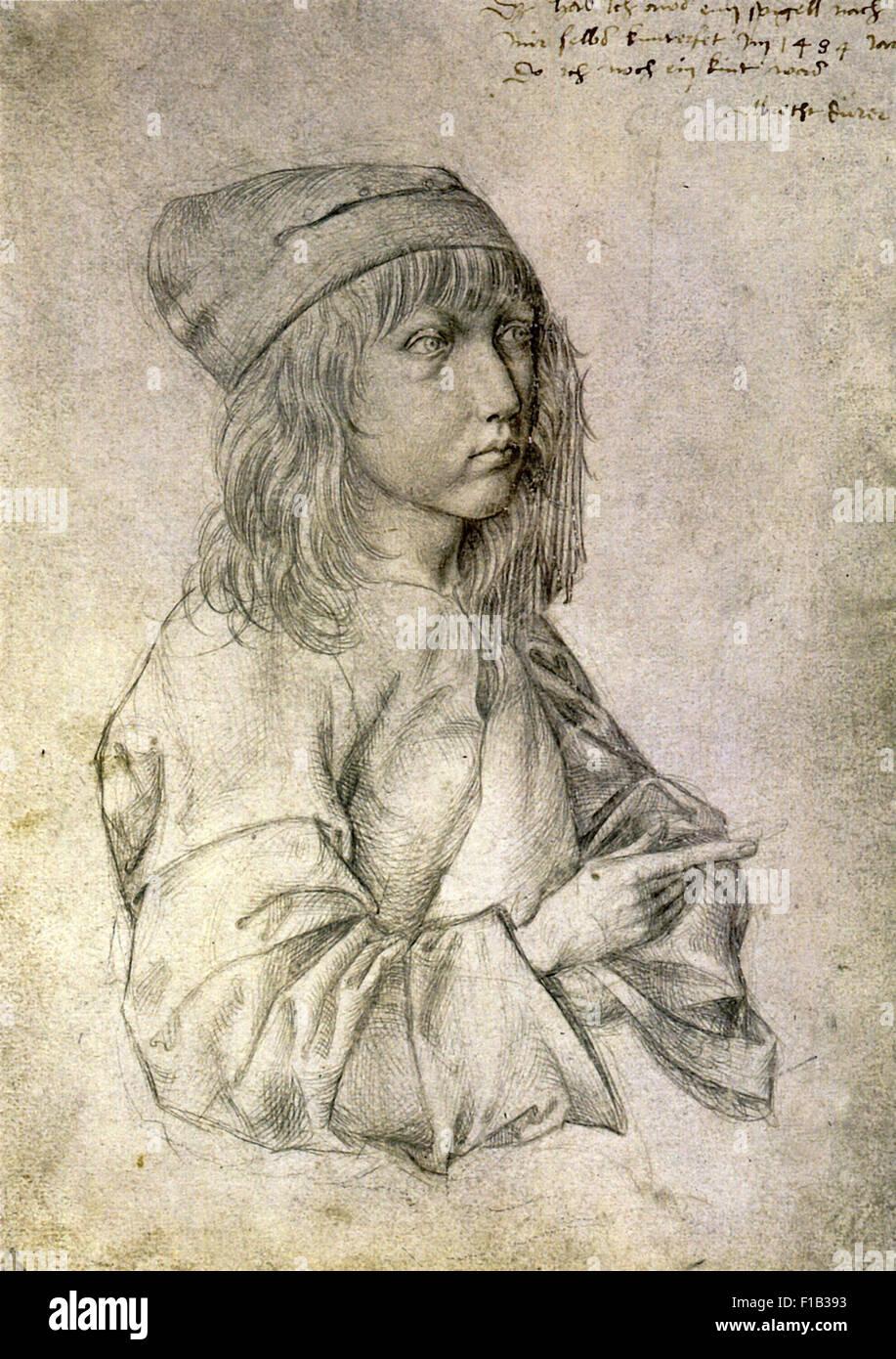 Albrecht Dürer - Self Portrait am Alter von dreizehn Stockbild