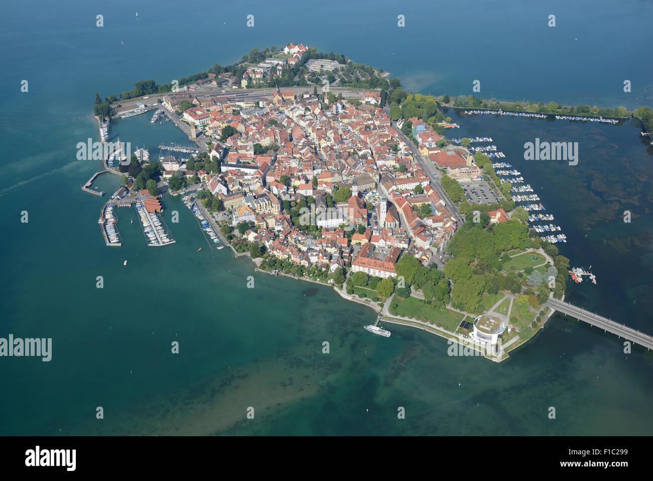 Insel Lindau Luftbild Bodensee Bayern Deutschland Stockfoto
