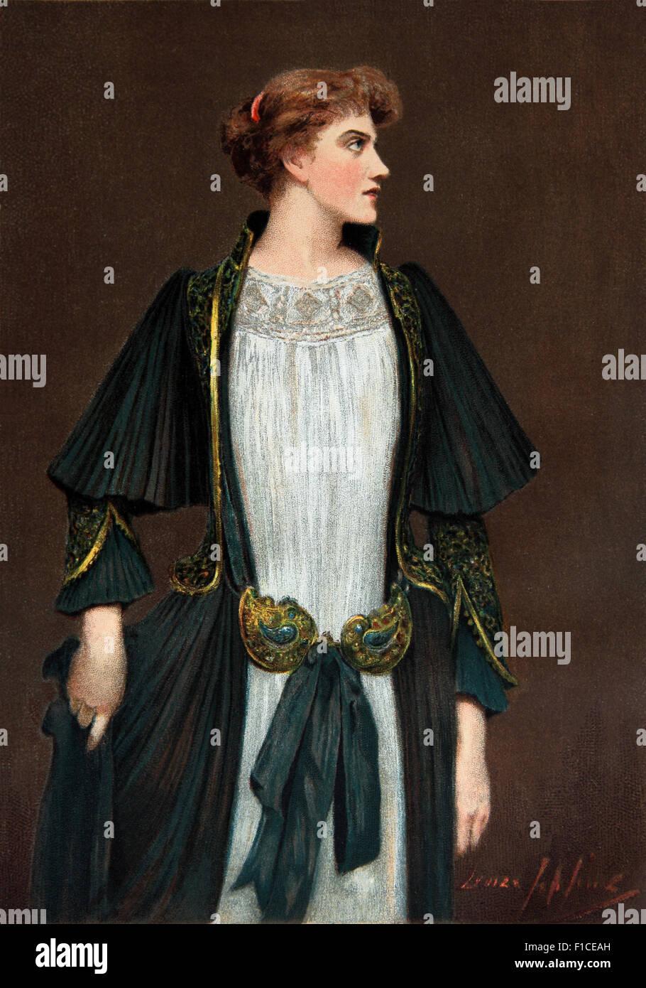 """Louise Jopling Öl auf Leinwand """"Sehr geehrte Dame verachten"""" im Jahre 1891 in der Royal Academy ausgestellt Stockbild"""
