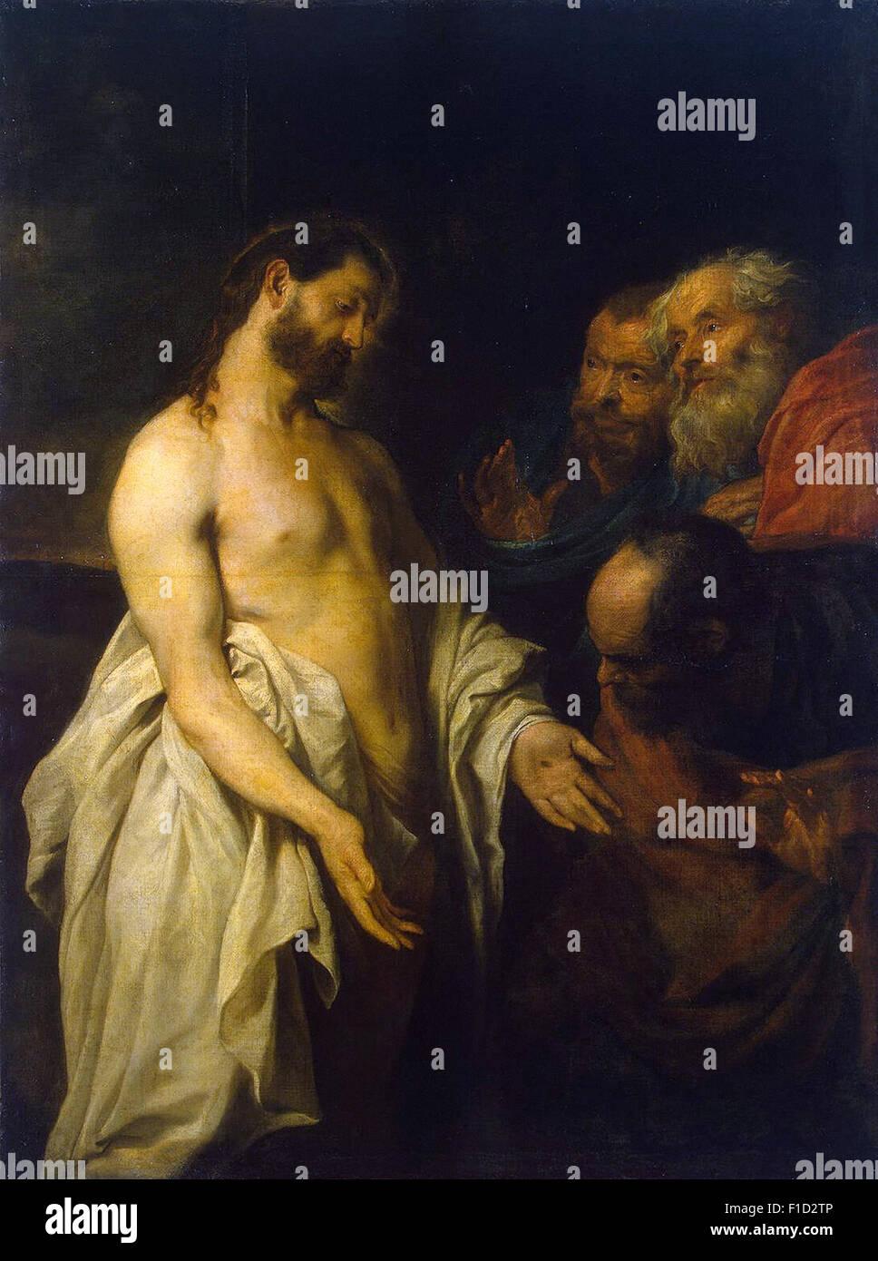 Anthony Van Dyck - Erscheinung des Christus zu seinen Jüngern Stockbild