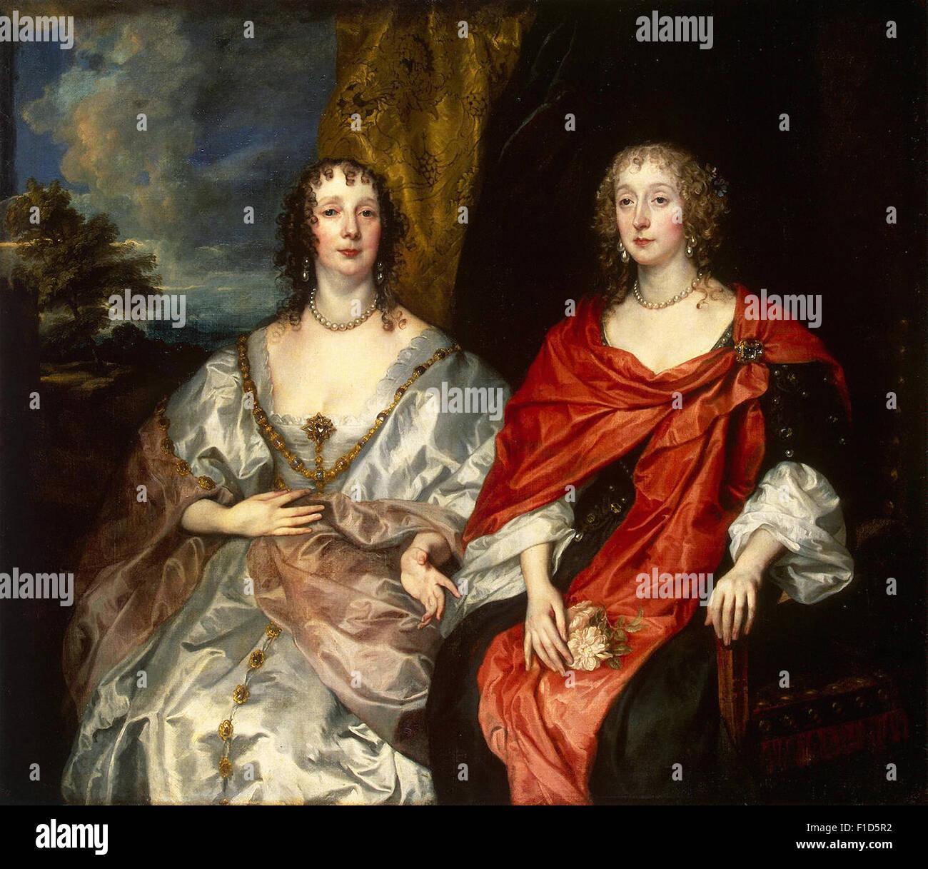 Anthony Van Dyck - Frau George Kirke und unbekannten Dame Stockbild