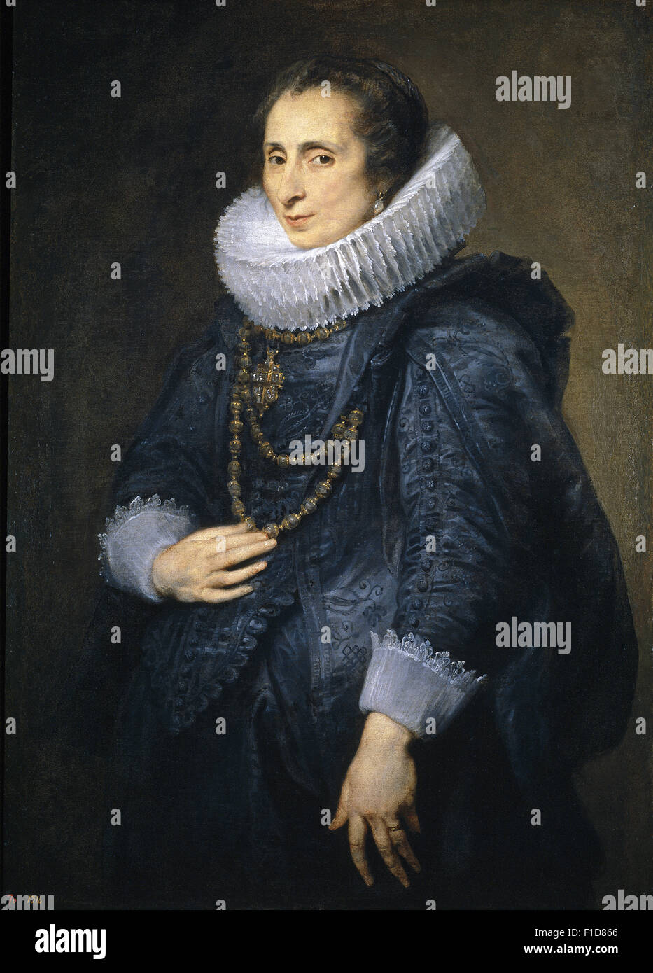 Anthony Van Dyck - unbekannte Dame Stockbild