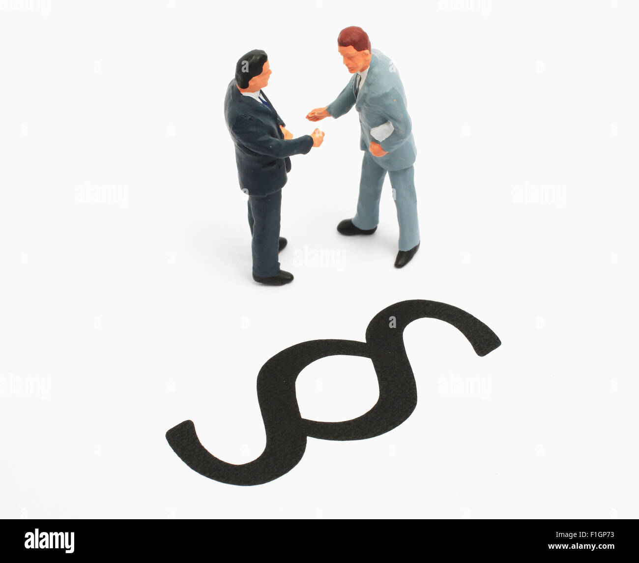 Businessworld, Handshake rechtmäßig Stockfoto