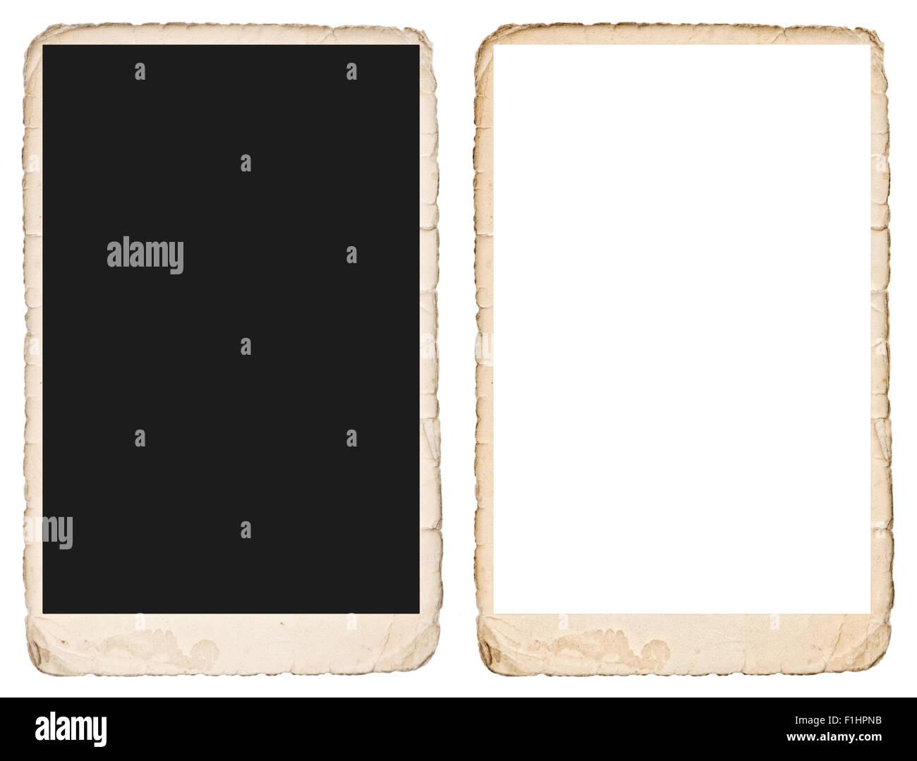 Bilderrahmen selber machen aus papier  Alte Bilderrahmen mit Kanten. Grunge Vintage Papierhintergrund. Für ...